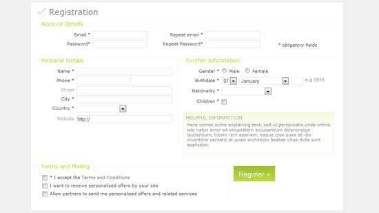 40+ Beautiful CSS Sign up & Registration Form - freshDesignweb