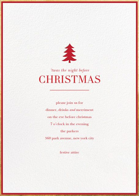 Christmas invitations - online and paper - Paperless Post