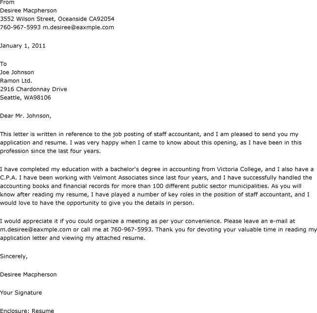 Sample Resume Cover Letter For Accounting Job | Sample Resumes