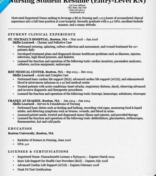 Stunning Entry Level Nursing Resume Extremely - Resume CV Cover Letter