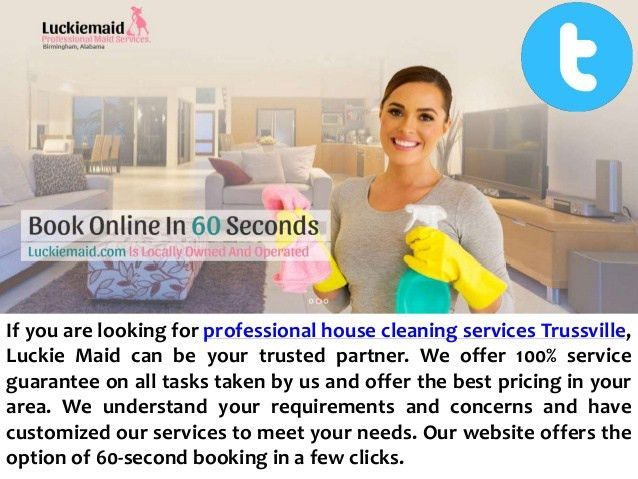 Professional house cleaning services in trussville