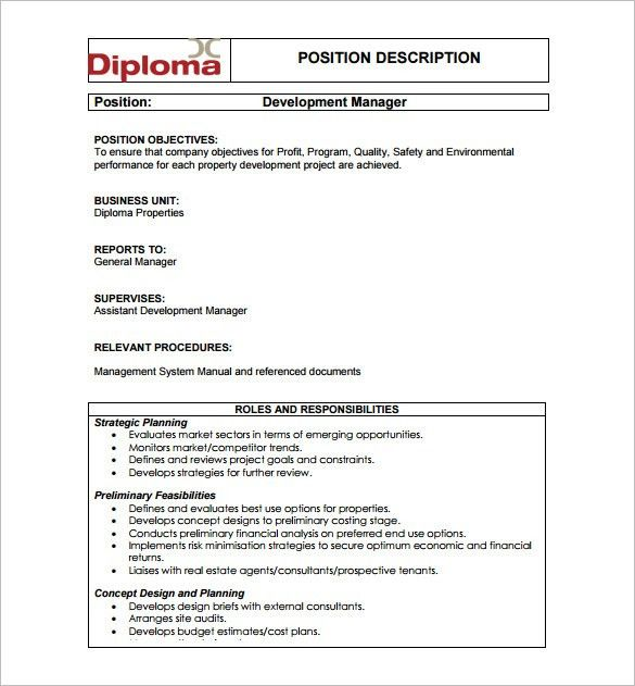 10+ Property Manager Job Description Templates - Free Sample ...