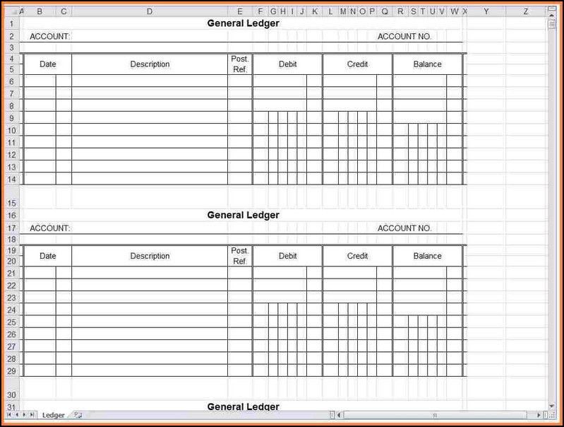 General Ledger Account Reconciliation Template Excel Ledger Excel ...
