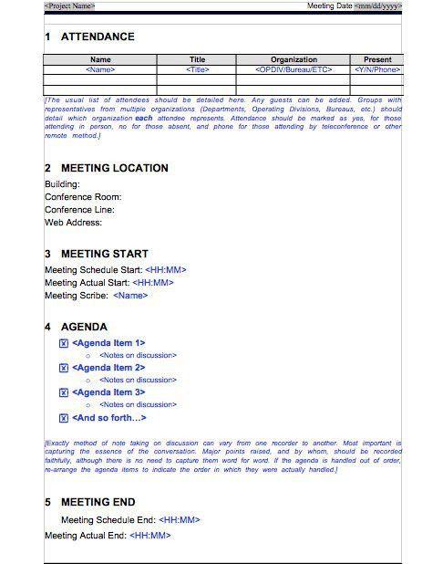 Meeting Protocol Template [Nfgaccountability.com ]