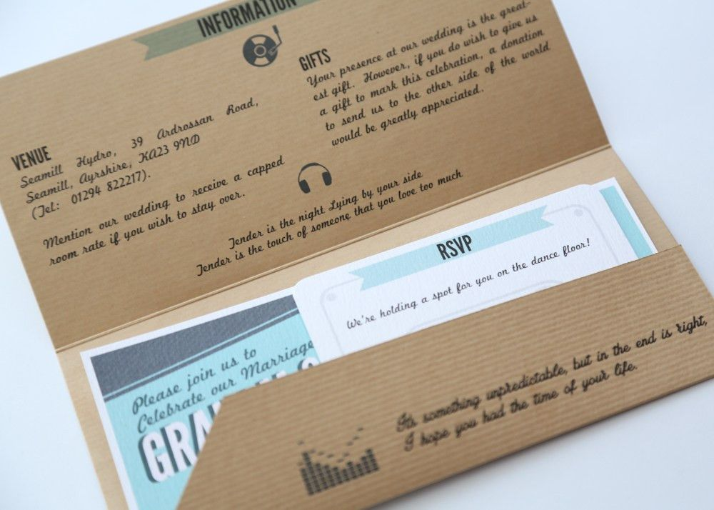 Click to enlarge | Invitations | Pinterest | Gig tickets and Weddings