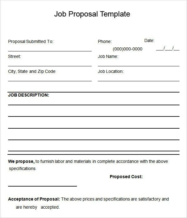 Proposal Sample Doc. Printable Blank Bid Proposal Forms ...