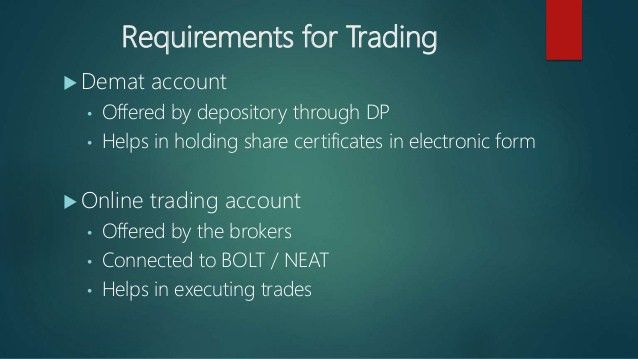 Chapter 3 trading in stock market