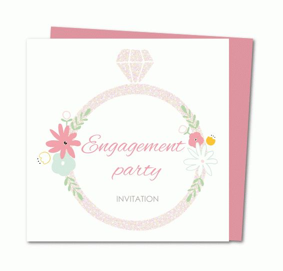 Engagement party invitation cards │ Planet-cards.co.uk