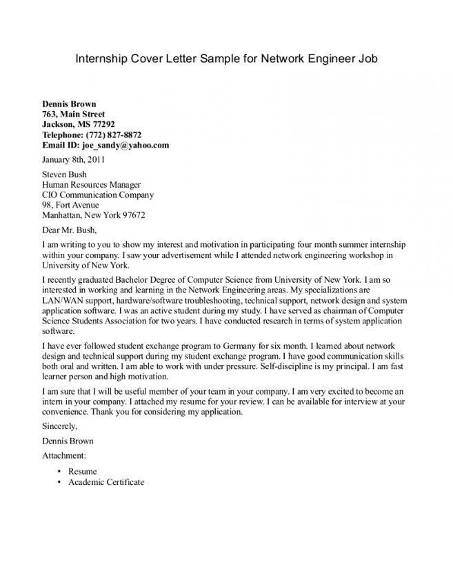 8 Cover Letter Sample For Engineering Internship Cover Letter best ...