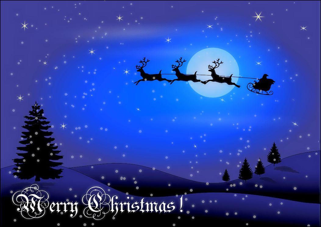 christmas card w words - /holiday/Christmas/scenes ...