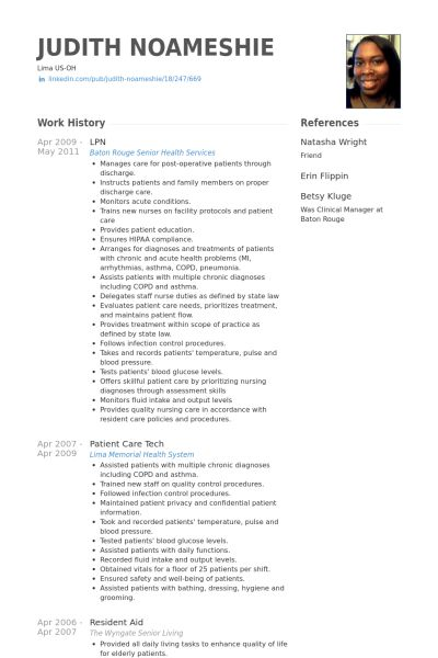 Valuable Design Ideas Lpn Resume Examples 4 Reference Page Of ...