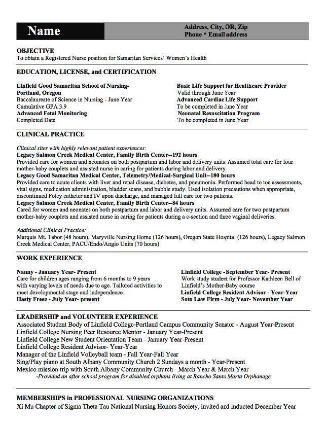 Best 25+ Rn resume ideas on Pinterest | Nursing cv, Registered ...