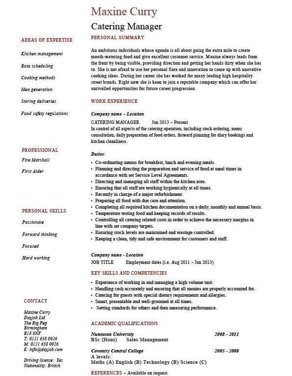 food prep resume