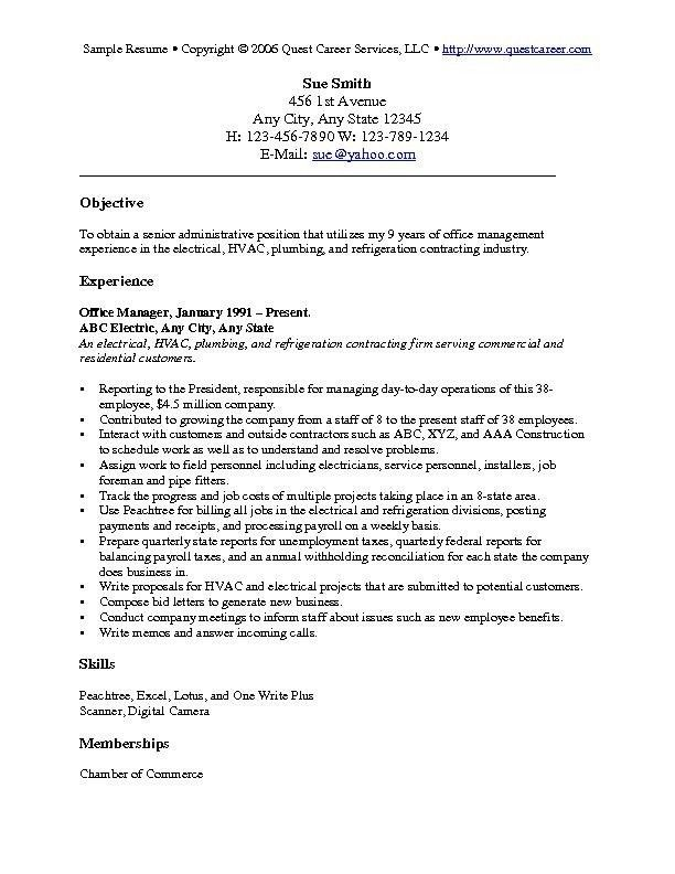 Impressive Design Ideas General Objectives For Resume 3 Resume ...