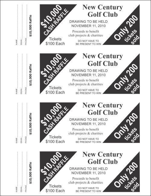 Raffle Ticket Templates - Large Raffle Ticket Templates - 4