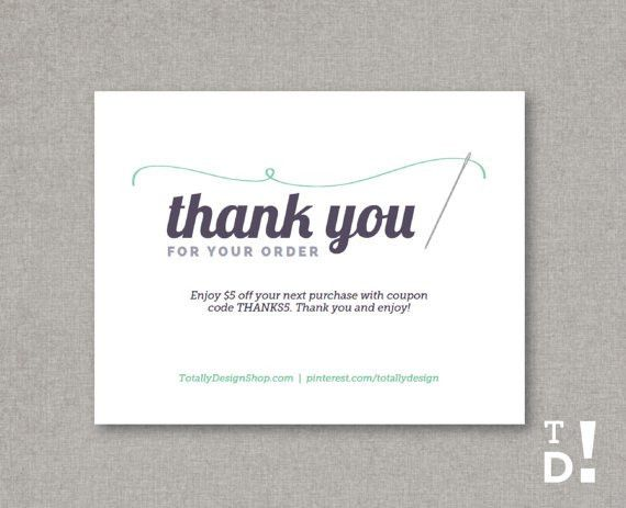 Thank You for Your Order template INSTANT DOWNLOAD by ...