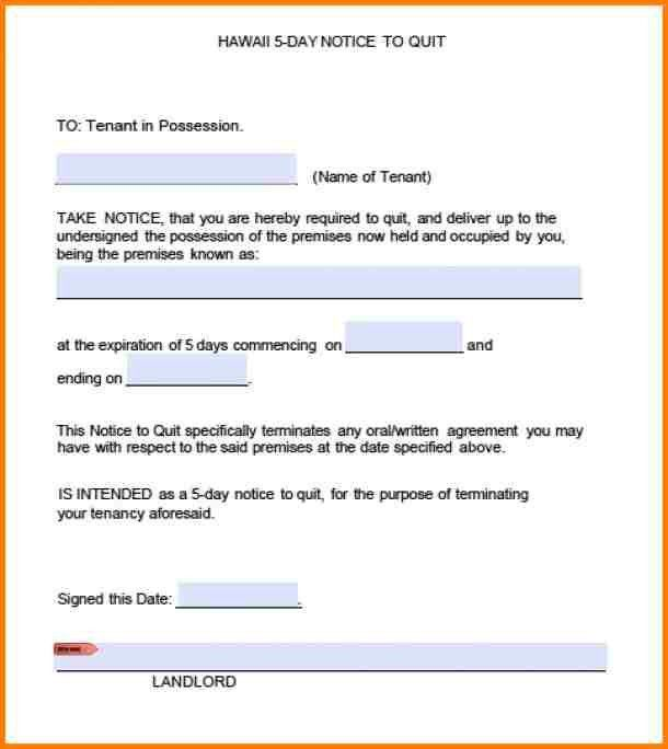 Blank Eviction Notice - Resume Templates