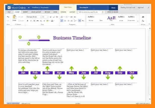 8+ timeline template for word | graphic-resume