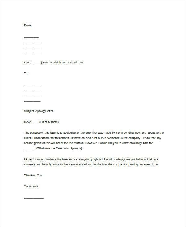 Useful Examples of Apology Letter To Boss : Vatansun