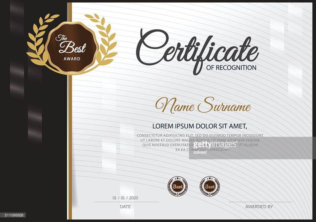 Certificate Design Template Vector Art | Thinkstock