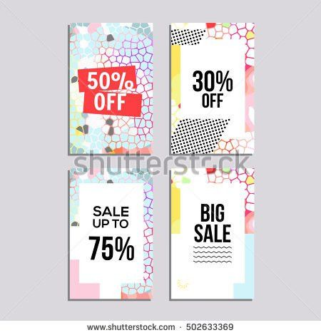Set Social Media Sale Website Mobile Stock Vector 543027496 ...