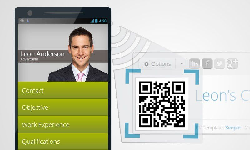 Online CV Builder with Free Mobile Resume and QR Code - Resume Maker