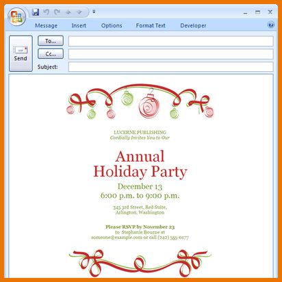 Microsoft Office Invitation Templates.Party Invitation Template ...