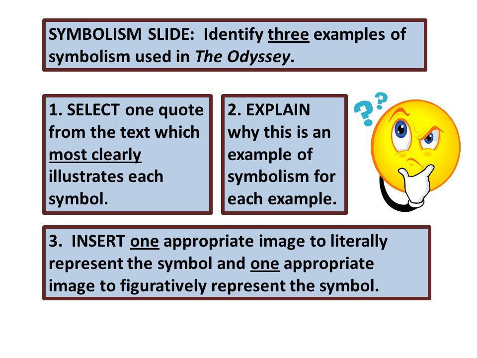 Your presentation: MUST DEMONSTRATE UNDERSTANDING OF THE ODYSSEY ...