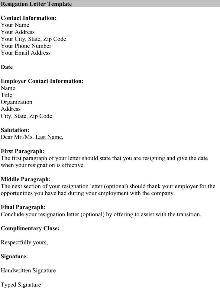 Template Letter Of Resignation Microsoft - Resume Acierta.us