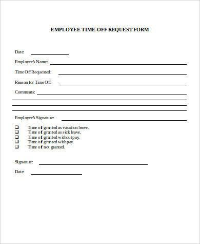 Employment Request Form. Sample Verification Of Employment Request ...