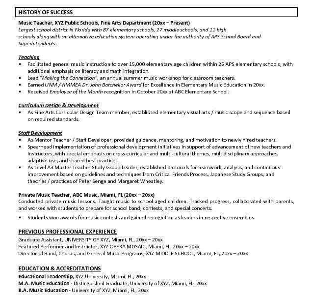 Valuable Idea Music Resume Template 2 Professional - Resume Example