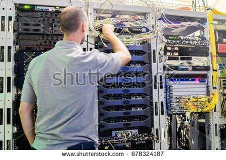 Network Engineer Server Room Cup Stock Photo 117937072 - Shutterstock