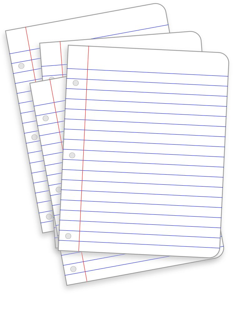 OnlineLabels Clip Art - Messy Lined Papers