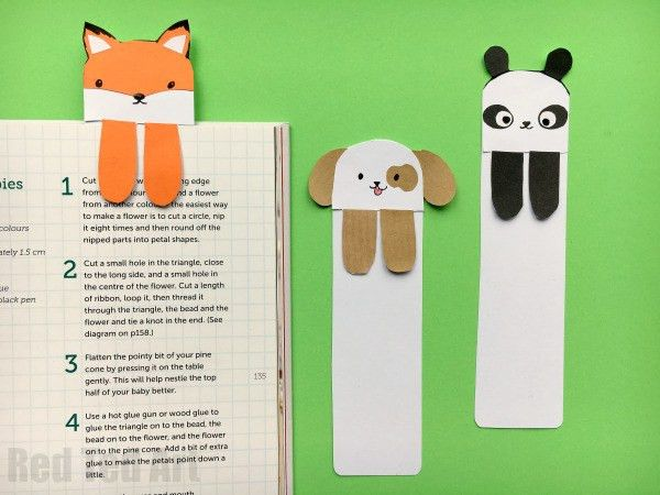 Dog Bookmark - Cute Bookmark Ideas - Red Ted Art's Blog