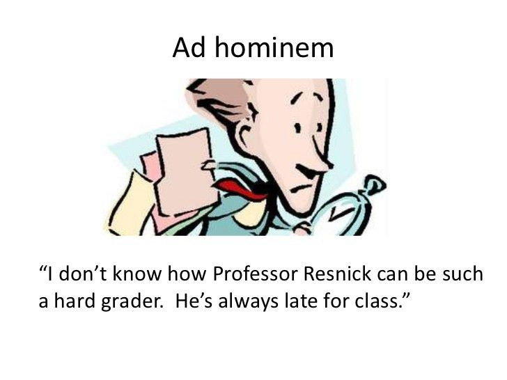example of ad hominem