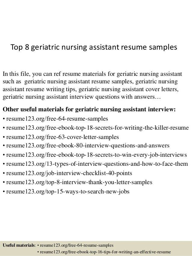 nursing assistant resume responsibilities of nurse resumes and ...