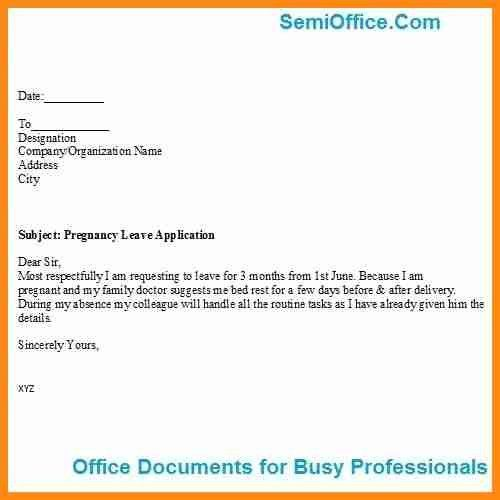 Leave Application Format For Office | Blank.csat.co