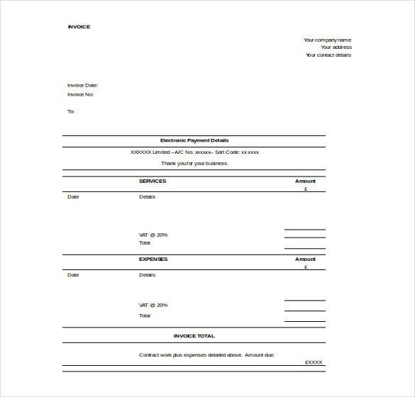 11+ Word Invoice Templates Free Download | Free & Premium Templates