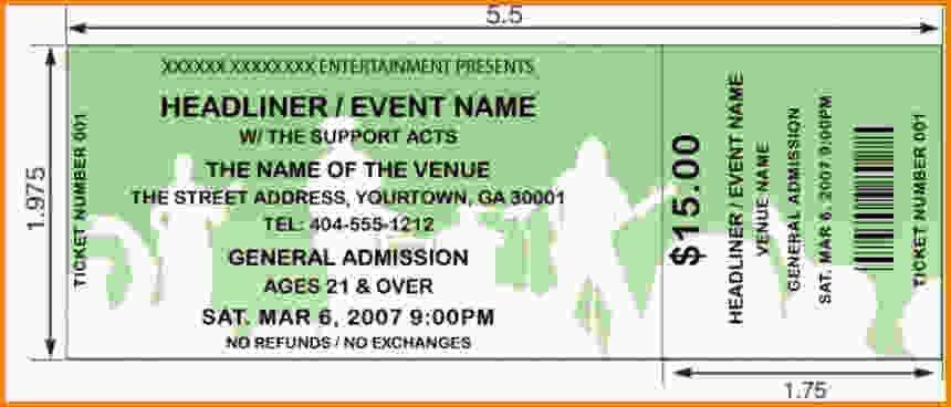 5 concert ticket template - LetterHead Template Sample