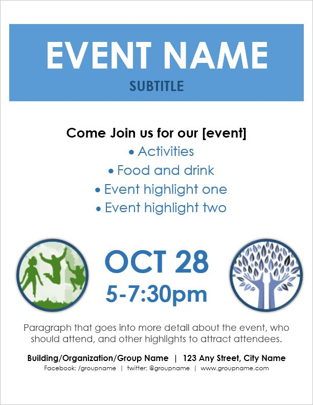 Event Flyer Template for Word