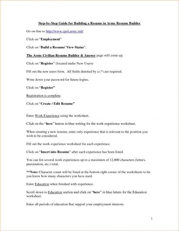 Army Resume Builder 3 Military Resume Builder Examples Template ...