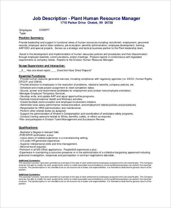 manufacturing manager job description sample manufacturing