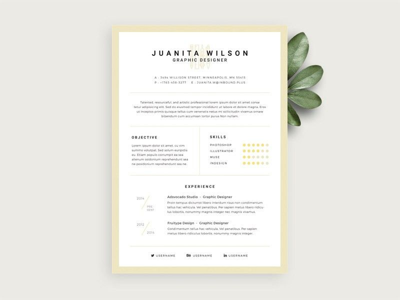 Simple Resume Template Download. Free Basic Resume Examples Free ...