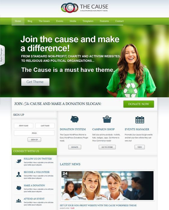 11 best 11 More of the Best Charity & Non-Profit WordPress Themes ...