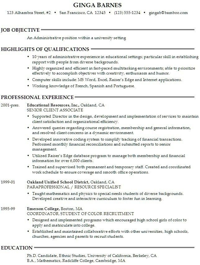 Sample Resume Objectives for College Students | Free Resumes Tips