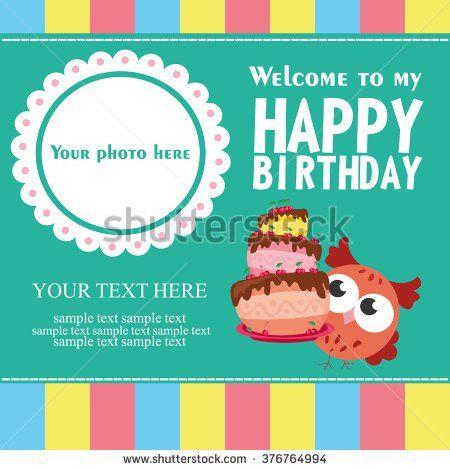 Set Birthday Greeting Cards Design Stock Vector 457596742 ...