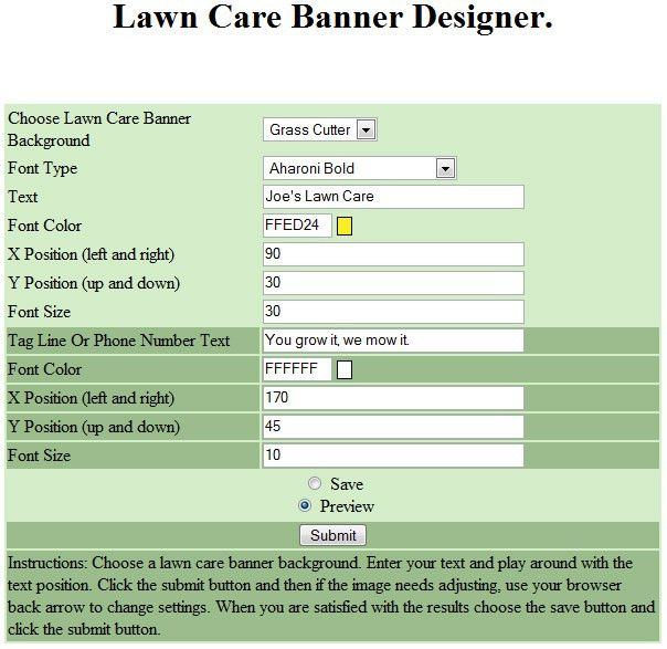 Lawn Care Business Banner Designer - GopherHaul Landscaping & Lawn ...