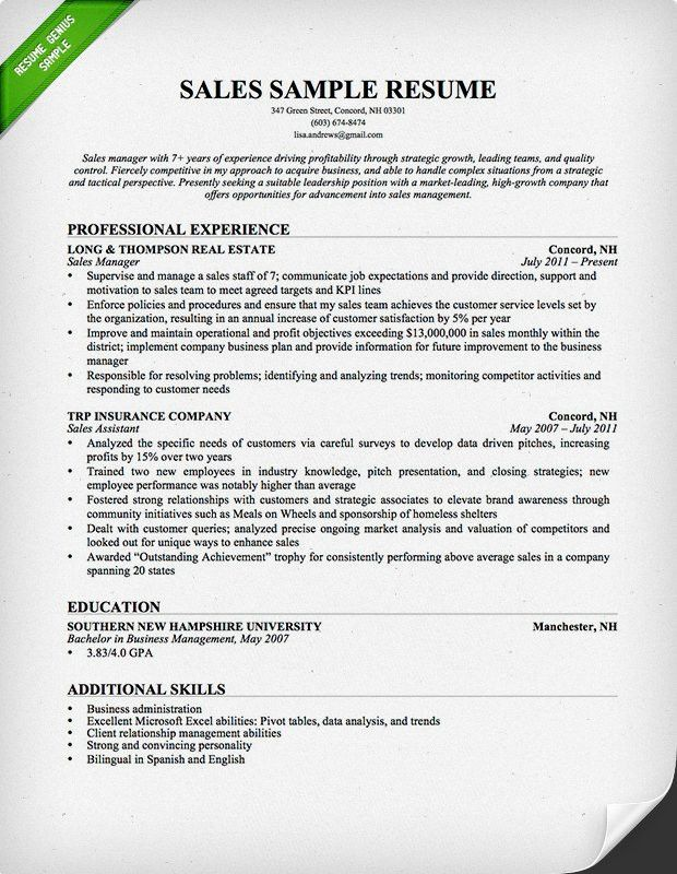 Download Sample Resume For Leadership Position ...