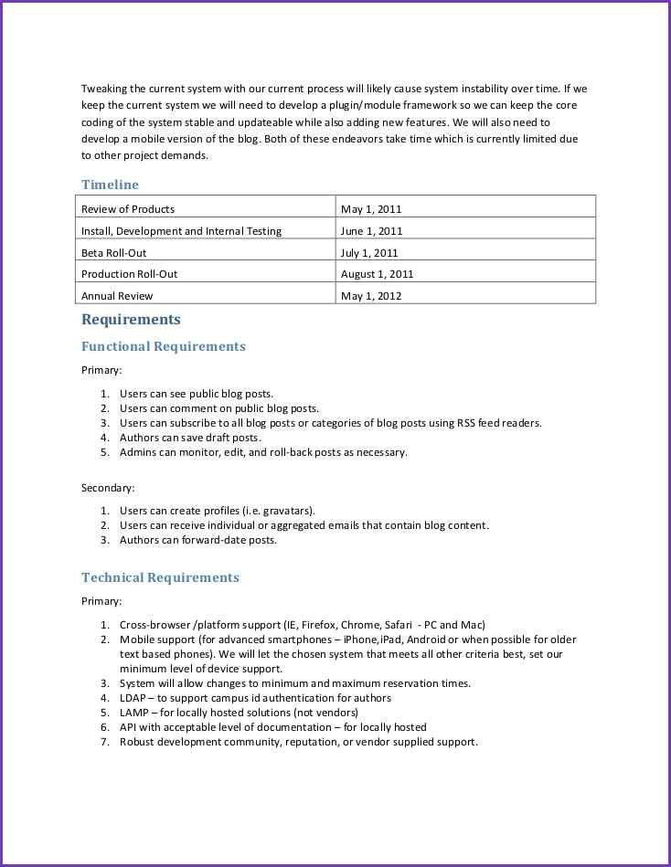 REQUIREMENTS DOCUMENT TEMPLATE | Jobproposalideas.com