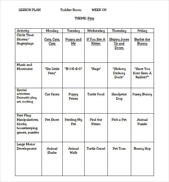 Sample Kindergarten Lesson Plan Template. Sequencing Lesson Plan ...